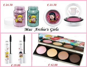 Mac Archie's Girls Mascara  Ombretti costi